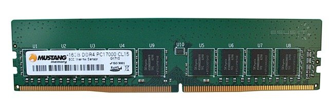 Pamięć RAM 1x 16GB Mustang ECC UNBUFFERED DDR4  2133MHz PC4-17000 UDIMM | M92G72211508NDTH