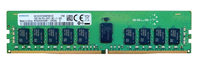 Pamięć RAM 1x 16GB Samsung ECC REGISTERED DDR4 1Rx4 2400MHz PC4-19200 RDIMM | M393A2K40BB1-CRC