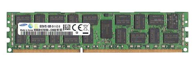 Pamięć RAM 1x 8GB Samsung ECC REGISTERED DDR3  1333MHz PC3-10600 RDIMM | M393B1K70EB0-CH9